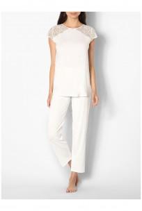 Pyjama / tenue d'intérieur haut manches courtes et dentelle Ligne Ella