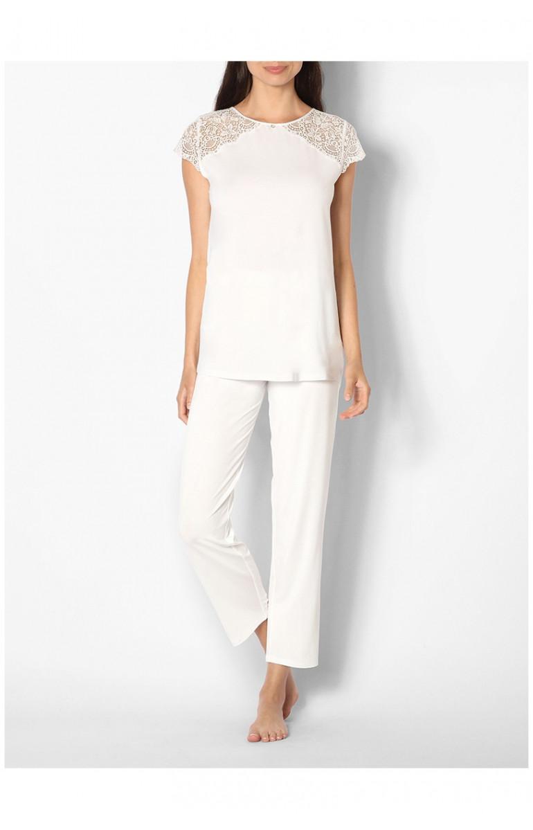 rechercher l'original nouveaux articles grandes variétés Pyjama / tenue d'intérieur haut manches courtes et dentelle Ligne Ella