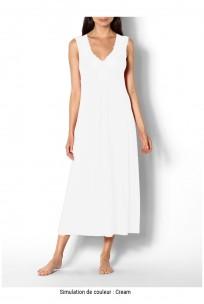 Long sleeveless loungewear nightdress with lace inserts