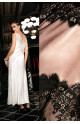 Maxi length sleeveless nightdress Violetta satin and lace