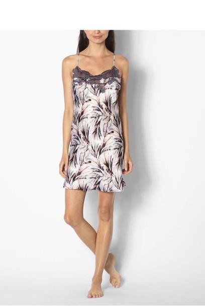 Satin nightdress with thin straps - coemi-lingerie Izzy range