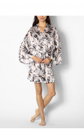 Long sleeved, satin, kimono-style dressing gown - Izzy range