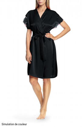 Robe with short, lace-trimmed sleeves - Gulia
