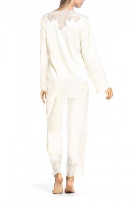 Two-piece satin and lace pyjamas - Chiara