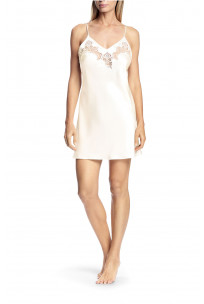 A strappy satin, tulle and lace nightdress - Luisa range