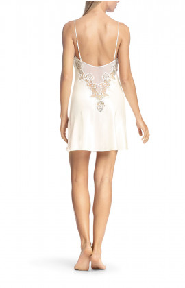 A strappy satin, tulle and lace nightdress - Luisa