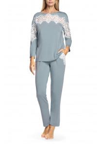 Two-piece micromodal fabric and lace pyjamas - Antonia range