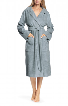 Long, long-sleeved robe belted at the waist - Antonia