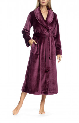 Robe with lapel collar - Wellness