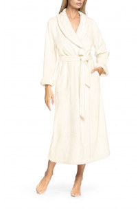 Robe with lapel collar