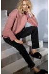 Scoop neck oversize sweatshirt with straight sleeves. Coemi Studio