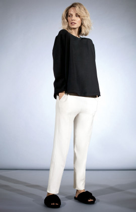 Loose-fit straight-cut track pants. Coemi Studio