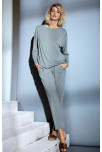 Pyjama set with top and trousers in flowing fabric. Coemi Studio