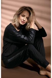 Long-sleeved pyjama top with cowl neck. Coemi Studio