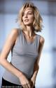 Top seyant sans manches encolure en U. Coemi-lingerie