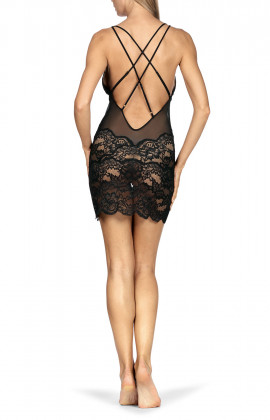 An extremely sexy, all-lace transparent nightdress.