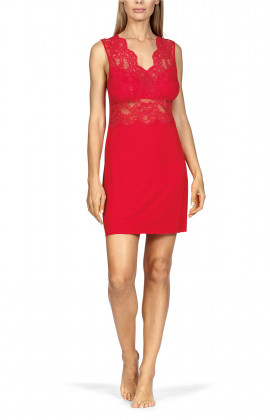 A stunning nightdress with floral pattern lace shoulder straps.