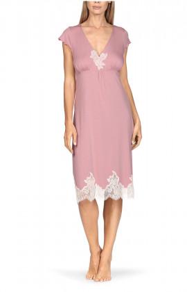 Short-sleeve knee-length loungewear nightdress. Coemi-lingerie