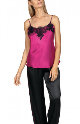 Brightly-coloured satin and lace strappy top. Coemi-lingerie