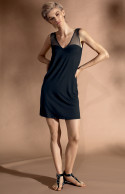 Sleeveless mid-thigh-length loungewear nightdress.