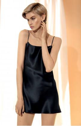 100% silk strappy slip dress – Black, white or pink.