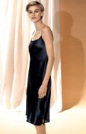 100% silk strappy knee-length slip dress.