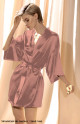 Short, 100% silk kimono with three-quarter sleeves. Coemi-lingerie