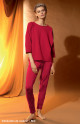 Cosy, straight leg trousers that taper at the calves. Coemi-lingerie