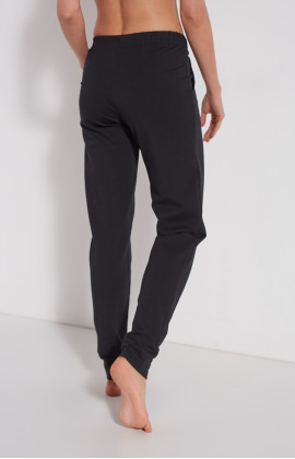 Cotton loungewear joggers with elasticated waist tie - Coemi-Lingerie