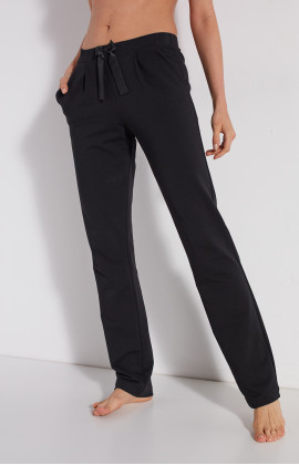 Straight-cut cotton loungewear joggers with wide ankles and elasticated waist