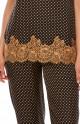 Satin pyjamas in polka dot print and contrasting lace - Coemi-Lingerie