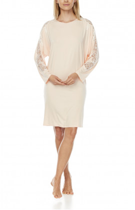 Tunic-style nightdress/lounge robe with long batwing sleeves