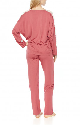 Pyjamas/loungewear with long, loose-fitting batwing sleeves - Coemi-Lingerie
