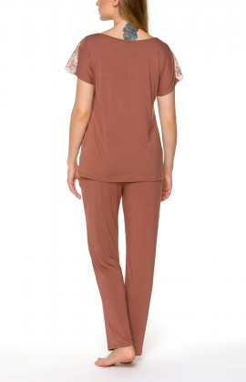 Two-piece pyjamas with round neck and short sleeves - Coemi-lingerie