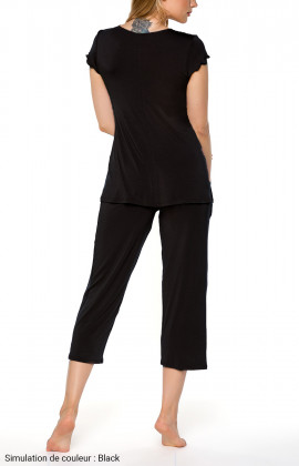 Pyjamas with short-sleeves and three-quarter-length bottoms - Coemi-lingerie