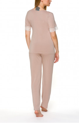 Pyjamas/loungewear with T-shirt-style top and straight-cut bottoms - Coemi-lingerie