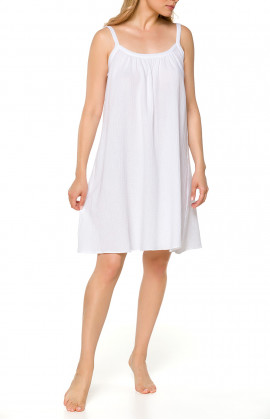Very loose-fitting nightdress/lounge robe with straps