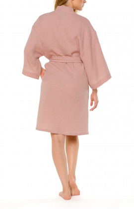 Loose-fitting, short kimono-style cotton dressing gown - Coemi-lingerie
