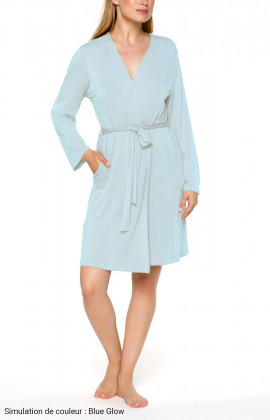 Classic short fitted dressing gown with long sleeves Different colours.