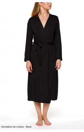 Classic, long, fitted dressing gowns with long sleeves Different colours - Coemi-lingerie