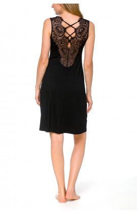 Gorgeous, sleeveless, micromodal and lace night shirt - Coemi-lingerie