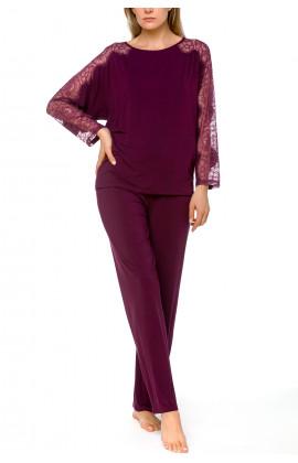 2-piece pyjama set in micromodal, elastane and lace - Coemi-lingerie