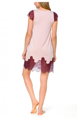Pretty little tunic-style nightdress with short, flared lace sleeves - Coemi-lingerie