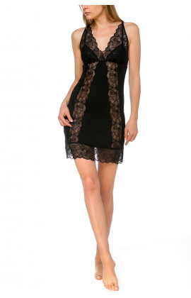 Glamorous and sexy negligee with criss-cross straps and see-through lace - Coemi-lingerie