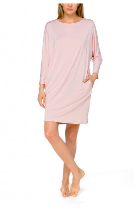Tunic-style nightdress with batwing sleeves and slash neck - Coemi-lingerie