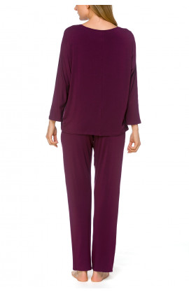 Soft, 2-piece pyjamas in a blend of micromodal and elastane, with three-quarter length sleeves - Coemi-lingerie